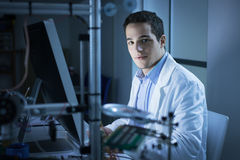 Young researcher in the lab Stock Image
