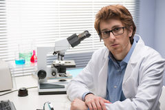 Young researcher in the laboratory Stock Photo