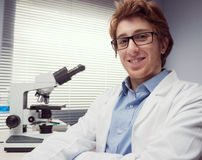 Young researcher in the laboratory Stock Image