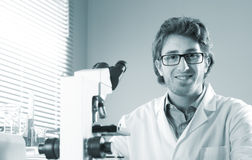 Young researcher in the laboratory Royalty Free Stock Photo