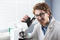 Young researcher in the laboratory Royalty Free Stock Image