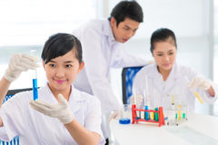 Young researchers stock photography