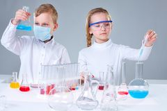 Young researchers Stock Photo
