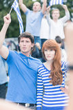 Young revolt against corrupt elites Stock Photography