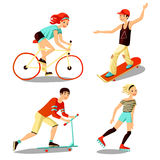 Young Riders Mini Set Royalty Free Stock Photo