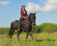 Young riding girl royalty free stock photos