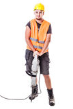 Young Road Worker Royalty Free Stock Photo