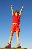 Young rock-climber Stock Image