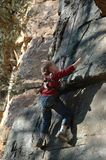 Young Rock Climber Royalty Free Stock Image