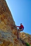 Young rock climber Royalty Free Stock Photos