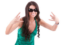 Young rock and roll woman Stock Image