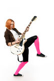 Young rock star with a guitar Royalty Free Stock Photos