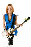 Young rock star with a guitar Stock Photography