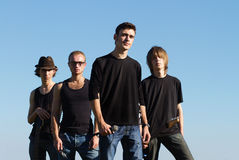 Young rockstars posing Stock Image