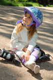 Young rollerblader Royalty Free Stock Photo