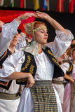 Young Romanian dancers in traditional costume 11 Royalty Free Stock Photography