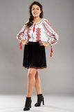 Young Romanian in traditional costume Royalty Free Stock Photos