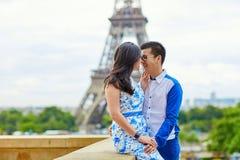 Young romantic Asian couple in Paris Stock Photos