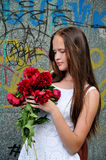 Young, romantic, beautiful girl .Summer portrait . Royalty Free Stock Photo