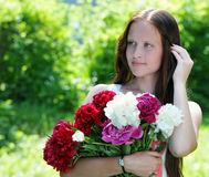 Young, romantic, beautiful girl .Summer portrait . Stock Photography