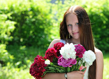 Young, romantic, beautiful girl .Summer portrait . Stock Photo