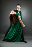 Young romantic couple dancing tango Royalty Free Stock Photo