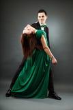 Young romantic couple dancing tango Royalty Free Stock Photo