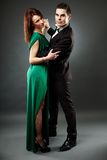 Young romantic couple dancing tango Stock Photography