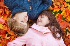 Young romantic couple on a fall day Stock Image