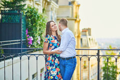 Young romantic couple having a date in Paris, France Stock Image