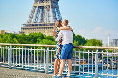 Young romantic couple having a date in Paris Stock Image