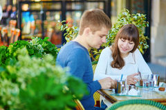 Young romantic couple having a date Royalty Free Stock Photos