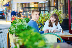 Young romantic couple having a date Stock Photography