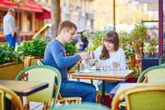 Young romantic couple having a date Royalty Free Stock Photography