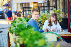 Young romantic couple having a date Royalty Free Stock Image