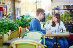 Young romantic couple having a date Stock Image