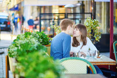 Young romantic couple having a date Stock Photo