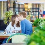 Young romantic couple having a date Stock Photos