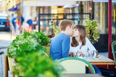 Young romantic couple having a date Royalty Free Stock Photo