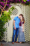 Young romantic couple having a date in San Francisco Stock Images
