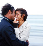 Young romantic couple hugging each other Royalty Free Stock Photography