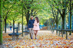 Young romantic couple in Paris Royalty Free Stock Images