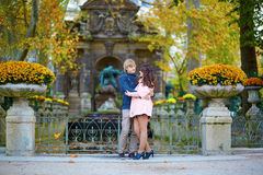 Young romantic couple in Paris Royalty Free Stock Photography