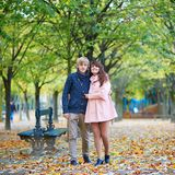 Young romantic couple in Paris Stock Photography
