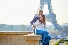 Young romantic couple in Paris Stock Images
