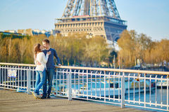 Young romantic couple in Paris Royalty Free Stock Photo