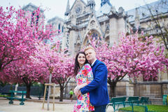 Young romantic couple in Paris Royalty Free Stock Photos