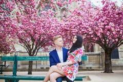 Young romantic couple in Paris Stock Photo