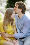 Young romantic couple Stock Image