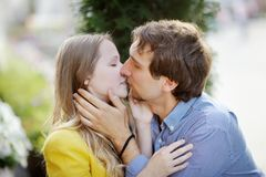 Young romantic couple Royalty Free Stock Photo